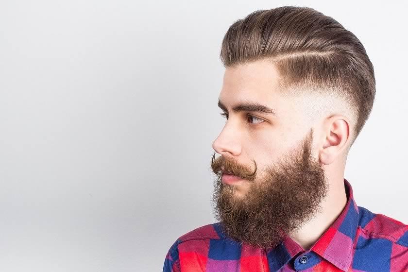 Barba rizada y barba lisa