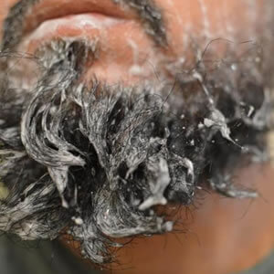 barba lavando